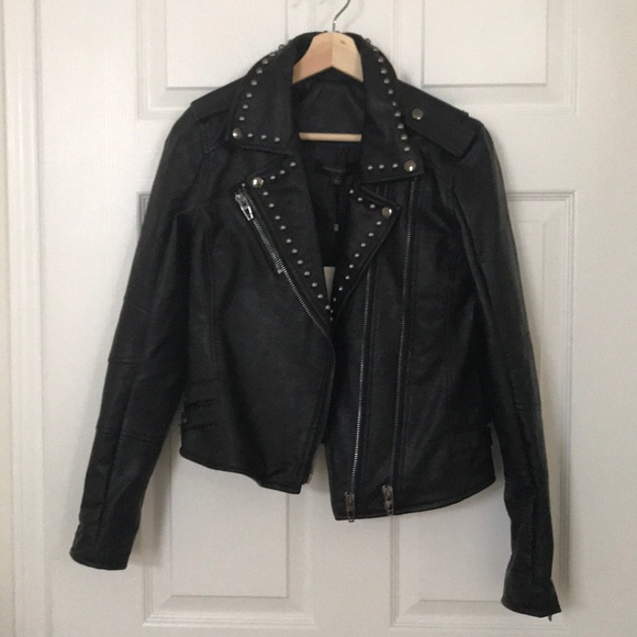 cd5abb686015 Women s leather Moto jacket